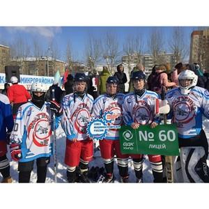 Великолепная пятерка и вратарь - состоялось открытие турнира по хоккею с шайбой среди школьников Уфы
