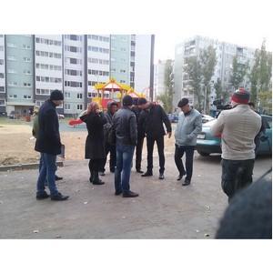 Волгоградские активисты ОНФ проверили качество дорожных работ во дворе пострадавшего от взрыва дома