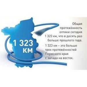 1300 километров и более 180 000 портов - «Ростелеком» продолжает развивать «оптическую» сеть.