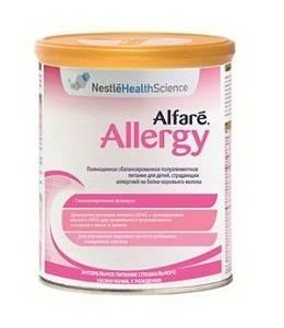 Новый продукт Alfare Allergy для борьбы с аллергией на белок коровьего молока у детей с рождения