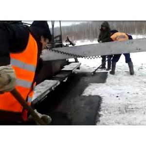 За строительством кунашакской автодороги следят активисты штаба ОНФ в Челябинской области