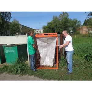 При участии активистов ОНФ в Алтайском крае устанавливают контейнеры для раздельного сбора мусора