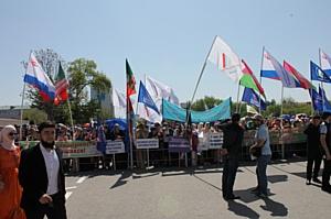 Активисты ОНФ в Чечне приняли участие в праздновании Первомая