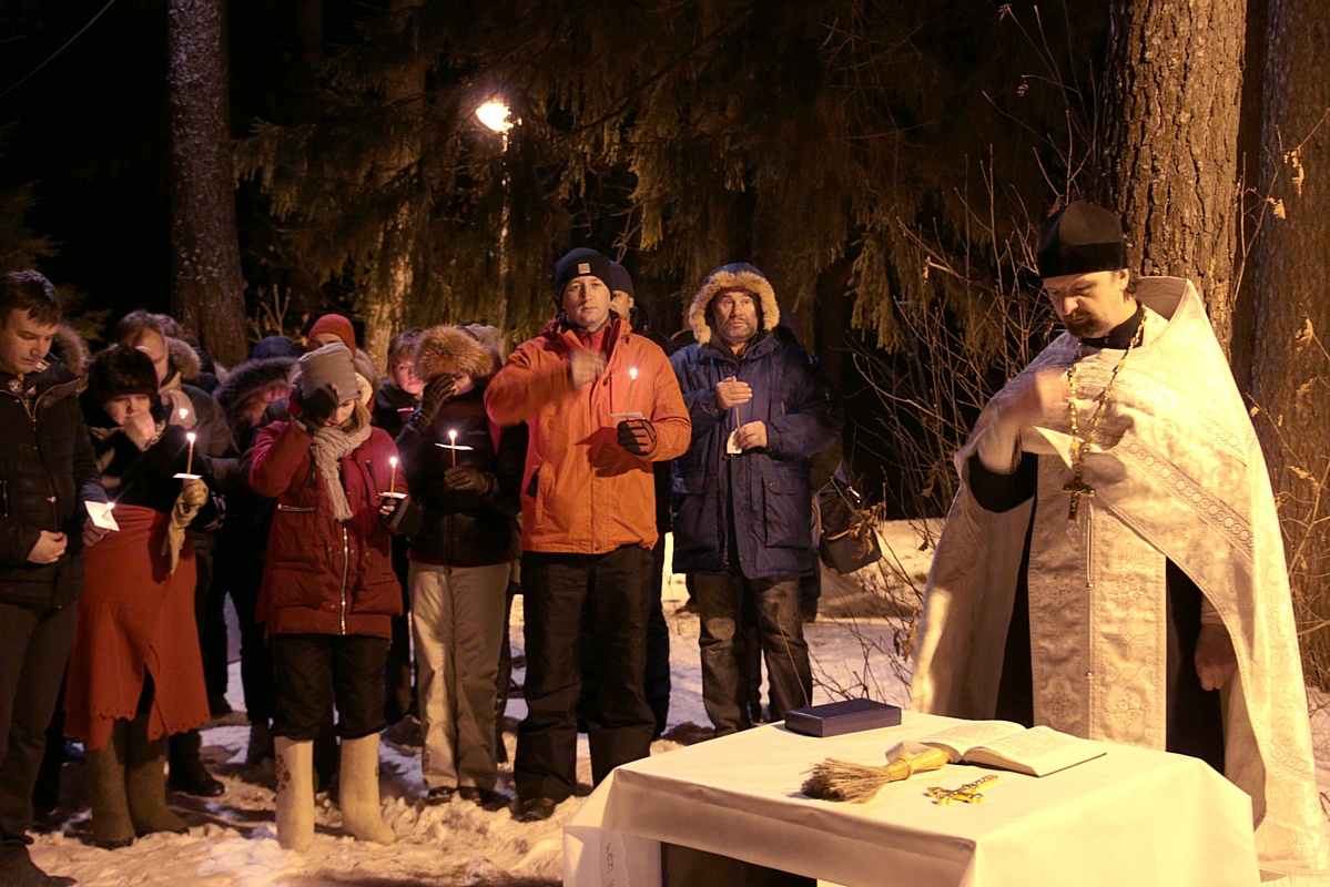 Праздник Крещения Господня сотрудники «Союз Маринс Групп» встретили в Нижнем Новгороде на реке Линде
