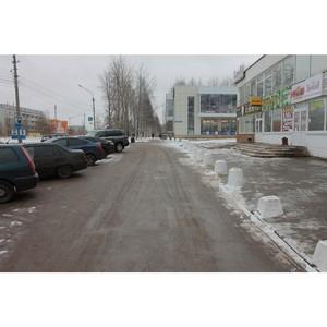 ОНФ в Коми восстановил пешеходную зону на перекрестке улиц Малышева и Петрозаводской в Сыктывкаре