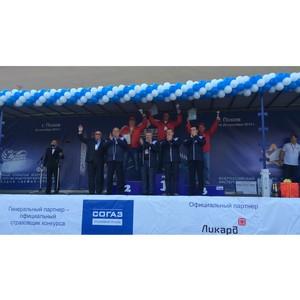 Атол Драйв наградил самого молодого участника конкурса «Лучший водитель грузовика» в Пскове.