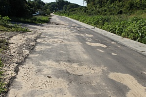 Активисты ОНФ добиваются ремонта некачественно построенной дороги на улице Онежской в Воронеже