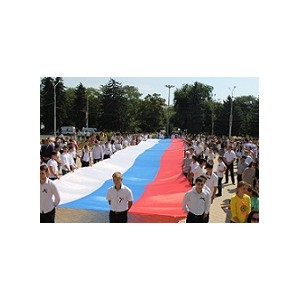 Активисты ОНФ в Карачаево-Черкесии приняли участие в праздновании Дня российского флага