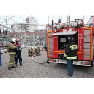 В Рязаньэнерго прошла тренировка по пожарной безопасности