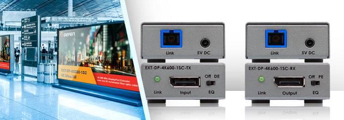 В продаже эффективные удлинители EXT-DP-4K600-1SC DisplayPort 4K по оптоволокну