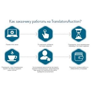 TranslatorsAuction - Биржа переводов с бесплатным подбором лучшего исполнителя по принципу аукциона