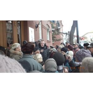 Народный сход в Астрахани. Против отмены льгот.