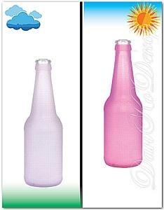 Декорирование бутылок фотохромными красками