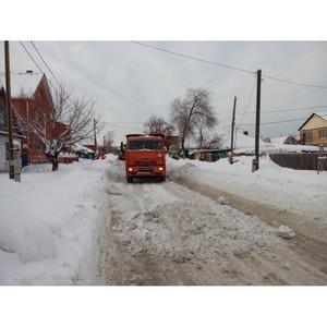 Тюменские активисты ОНФ раскритиковали качество уборки снега в частном секторе