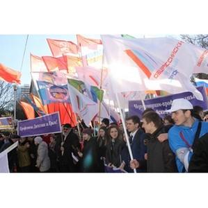 Активисты дагестанского ОНФ приняли участие в митинге в честь второй годовщины воссоединения Крыма