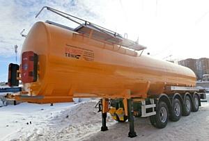 Отгрузка 4-х осных полуприцепов-цистерн для транспортирования индустриального масла