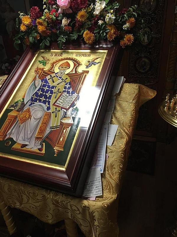 Пребывание иконы св. Спиридона Тримифунтского в храме Петра и Февронии продлено