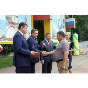 Имя электрогазосварщика «Липецкцемента» занесено на Доску почета города Липецка