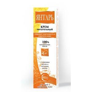 """Крем питательный """"Янтарь""""с оливковым маслом и пчелином воском"""