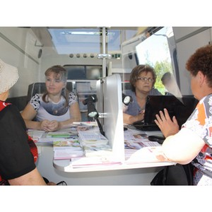 Мобильная клиентская служба Пенсионного фонда посетила Рассказовский район