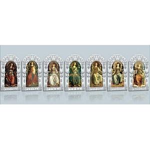 «Семь христианских добродетелей»  от филиала ОАО Банк ВТБ в г. Томск на благородном серебре