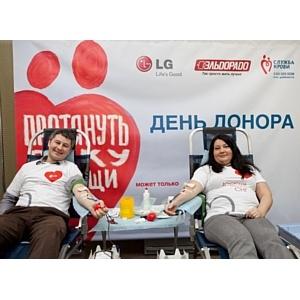 """LG Electronics и компания """"Эльдорадо"""" провели День донора"""