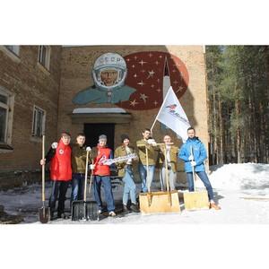 «Молодежка ОНФ» в Коми в рамках акции «Космос наш» очистила территорию вокруг планетария в Ухте