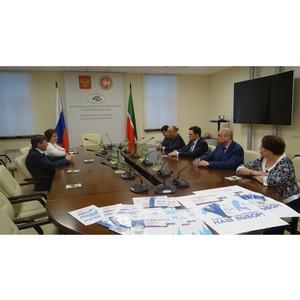 Состоялась рабочая встреча Генерального директора Почты России с председателем ЦИК Татарстана