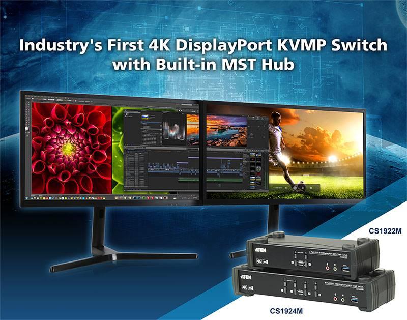 4К DisplayPort KVM переключатели Aten CS1924M, CS1922M c MST расширяют возможности ваших устройств