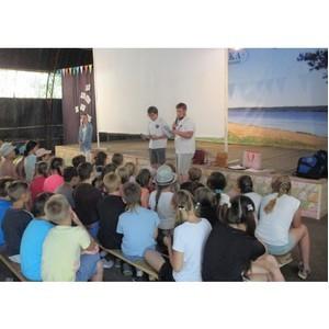 Энергетики Ивэнерго и бойцы студотряда «Прометей-2018» провели занятие в лагере «Чайка»