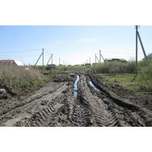 Тюменские активисты ОНФ взяли на контроль строительство дорог в селе Казарово