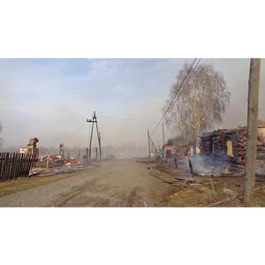 Энергетики борются с последствиями пожаров на территории Красноярского края