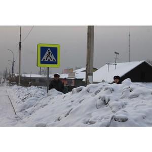 Активисты Народного фронта провели очередной мониторинг качества уборки дорог от снега в Кызыле