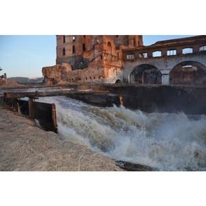 Строительство гидроэлектростанции в Свердловской области.
