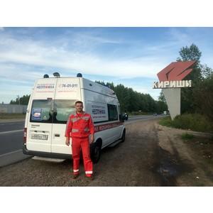 «Петербургская Неотложка» транспортировала пациента из города Кириши