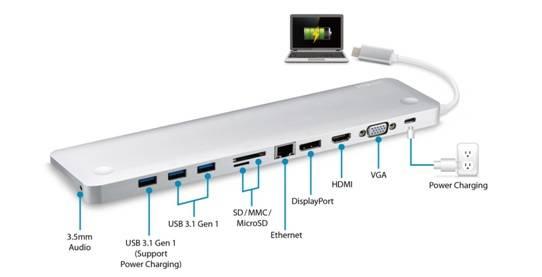 Ультра-тонкая многопортовая USB-C док-станция Aten UH3234 для стильного расширения