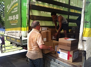 «ГрузовичкоФ» доставил гуманитарную помощь в Донецк