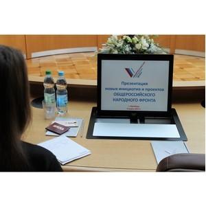 Активисты ОНФ в Оренбургской области представили первые результаты новых проектов Народного фронта