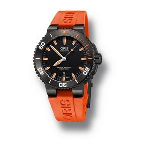 Новые часы Oris Aquis Date Orange.