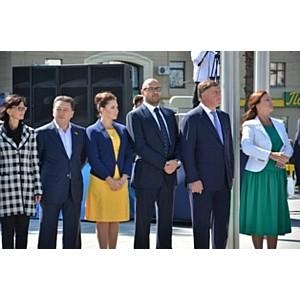 Дмитрий Святаш принял участие в открытии Монумента Независимости в Харькове