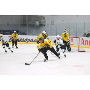 В Устьянах прошел международный хоккейный матч с командой из Финляндии