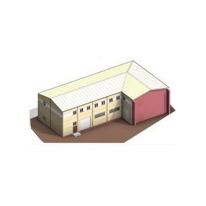 Двухэтажные здания склада с офисом в Московской области