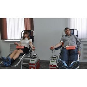 Сотрудники Красноярскэнергосбыта сдали более 50 литров крови в рамках донорского марафона