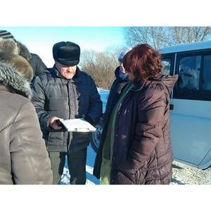 Амурские активисты ОНФ продолжают разбираться с некачественным ремонтом дороги в Михайловском районе