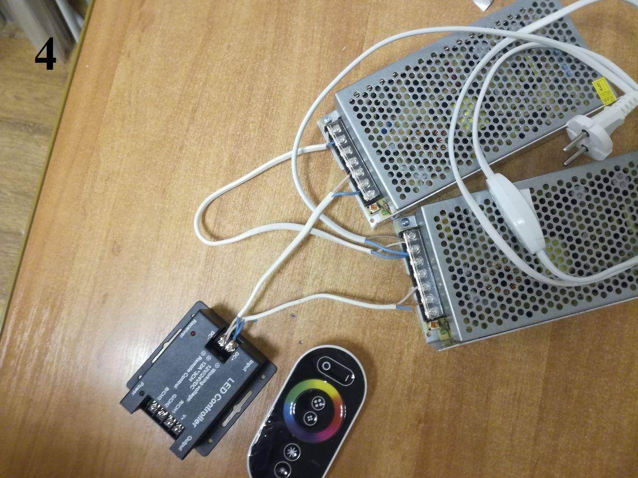 4. Оба блока подключены к контроллеру.