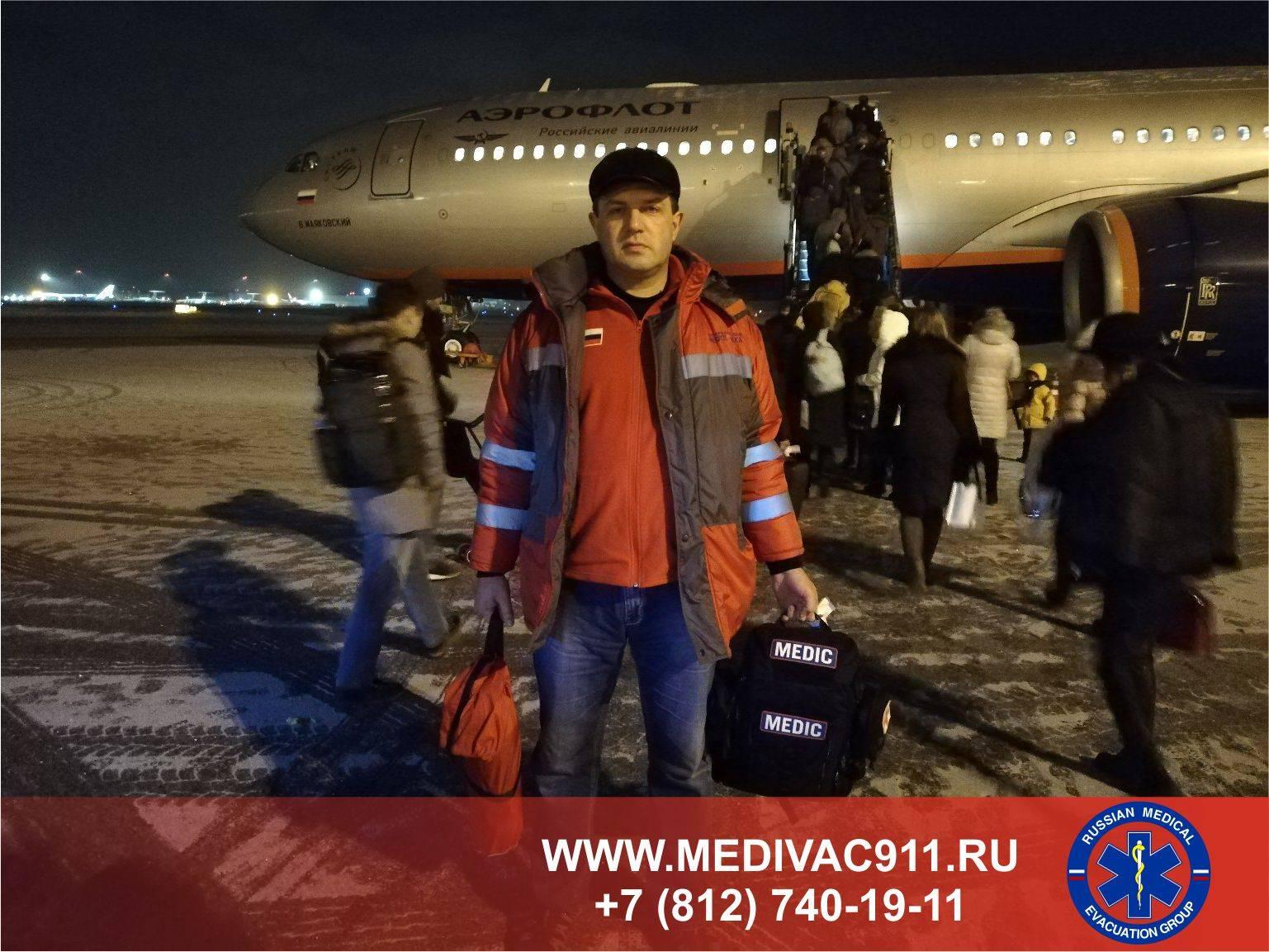 «Петербургская Неотложка» сопроводила пациента из Владивостока