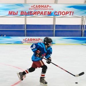 В Удмуртии при поддержке БФ «Сафмар» М. Гуцериева состоялось открытие хоккейной площадки в с.Сигаево