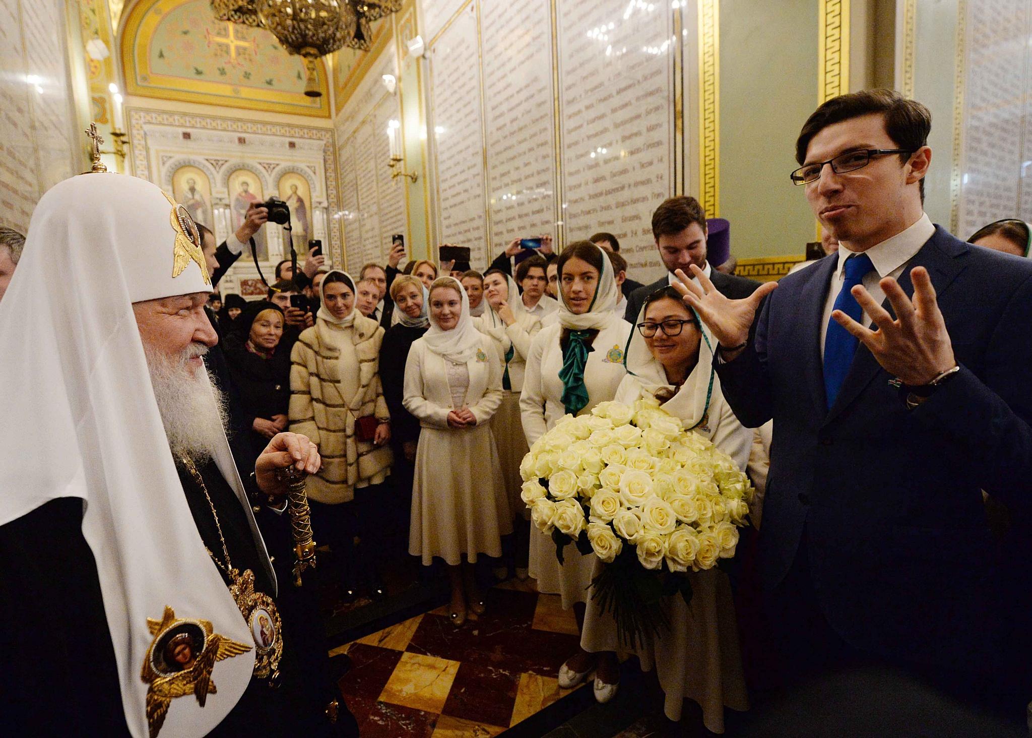 Торжественное богослужение в Храме Христа Спасителя в 10 годовщину интронизации Патриарха Кирилла