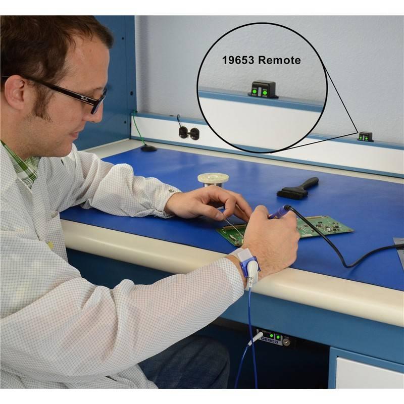 Применение Тестера непрерывного мониторинга DESCO 19652 - для одноконтурных антистатических браслетов и ковриков.