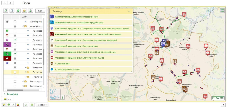 Общая геоинформационная карта отслеживаемых объектов